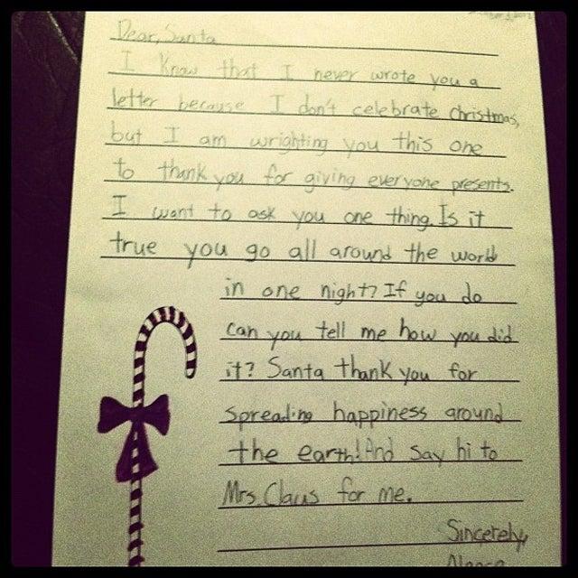 Muslim 4th-Grader Sends Cutest-Ever Letter to Santa