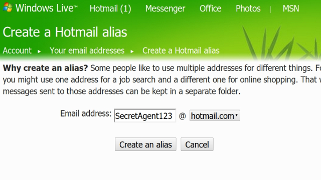 Create Entirely New Email Addresses as a Hotmail Alias