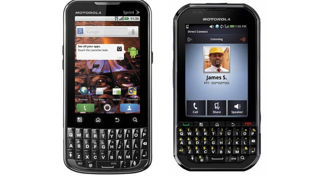 Sprint's Got Dibs on the Motorola BerryDroid Phones, the XPRT and Titanium