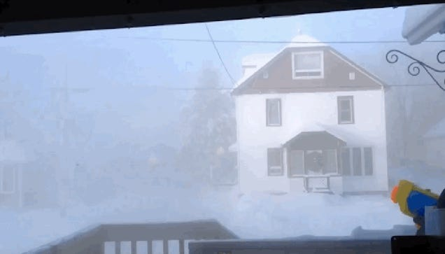 Watch what happens when you use a SuperSoaker on a -42°F day