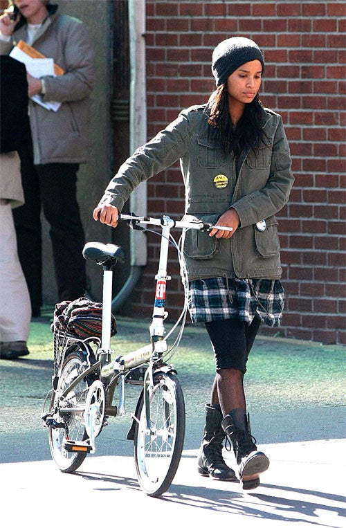 Joy Bryant Wears Working Class Boots, Button