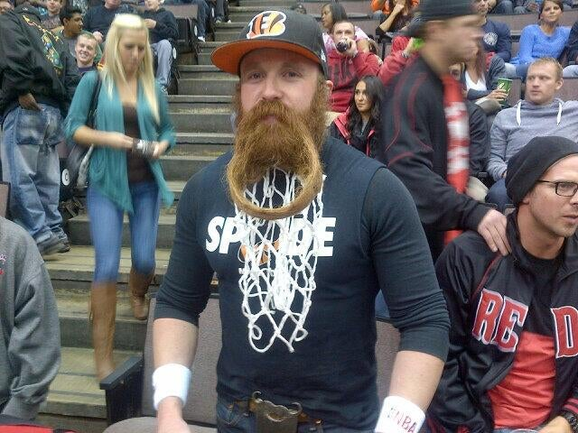 This Cavaliers Fan Turned His Beard Into A Basketball Hoop