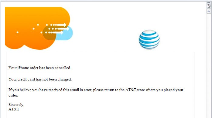 AT&T Randomly Cancelling iPhone 4 Pre-Orders?