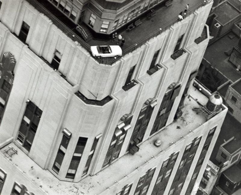 Hoisting A 1966 Mustang To The Roof Of The Empire State Building