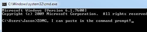 How to Enable CTRL+V Paste in the Windows Command Prompt