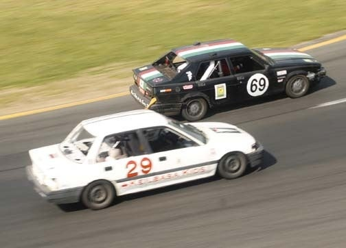 End Of Day One: It's Your Typical Civic vs Volvo 240 vs Alfa Romeo Milano Race!