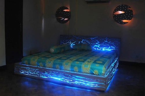 Sleep Doesn't Seem Like a Priority With the Expose LED Bed