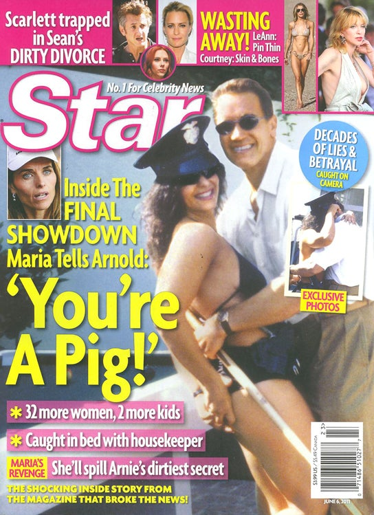"This Week In Tabloids: Arnold ""Groped, Used & Humiliated"" 32 More Women, Has 2 More Secret Kids"