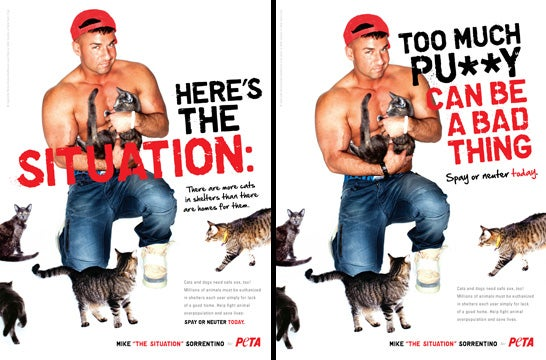 The Situation's PETA Ad, And Its Inevitable Pussy Joke