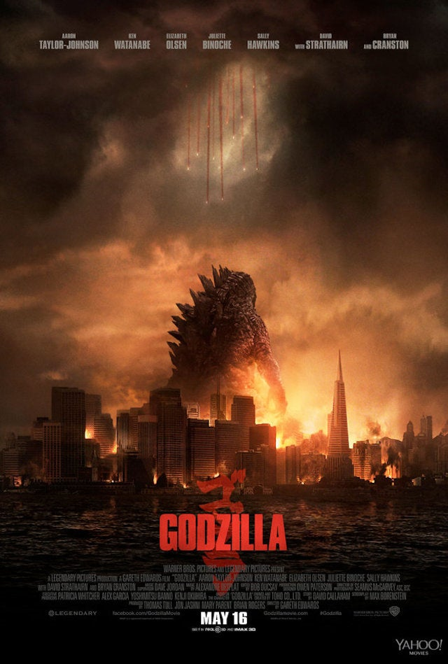 Poster reveals that the new Godzilla is f@#$ing ENORMOUS