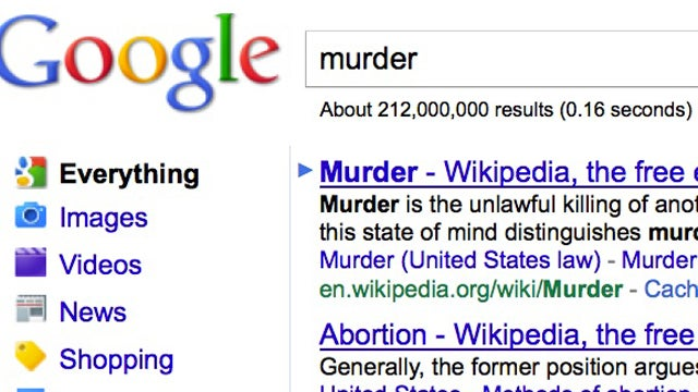 "Anti-Choicers Link ""Abortion"" To ""Murder"" On Google"