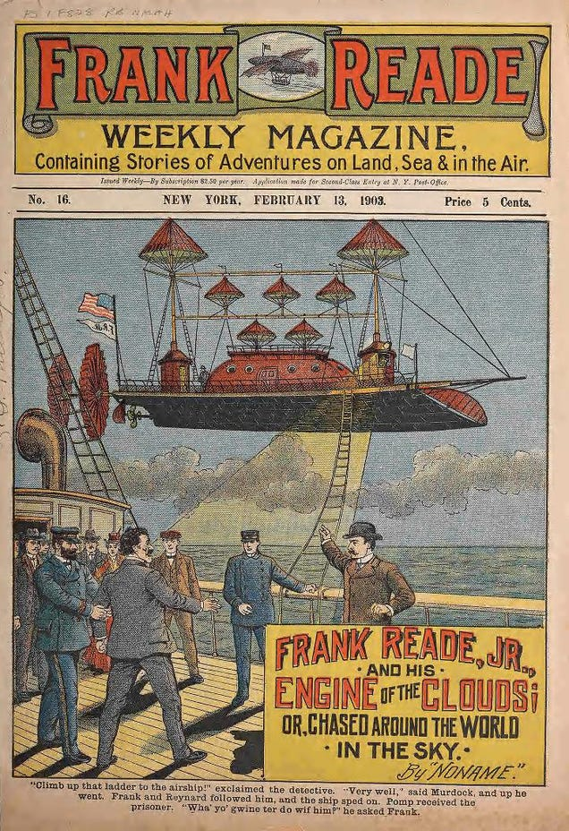 12 Fantastic Scifi Vehicles from a Century Ago