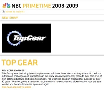 Up-Front Page Up, Top Gear USA Not Cancelled?