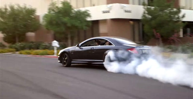 Watch This Mercedes-Benz CL65 AMG Wreck Its Rear Tires