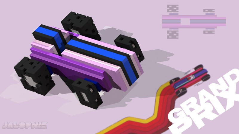 What If 8-Bit Racing Cars Were Rendered In 3D?