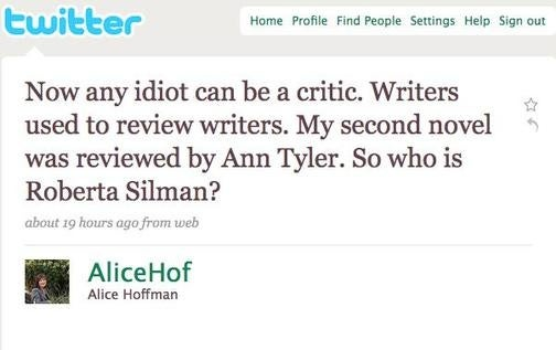 Look Who's Snarking Now: Novelist Uses Twitter to Trash Critic