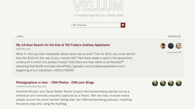 Vellum Turns Twitter Links Into a Reading List