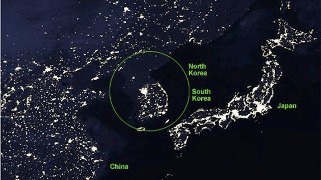 The Stark Difference Between North Korea and South Korea from Space