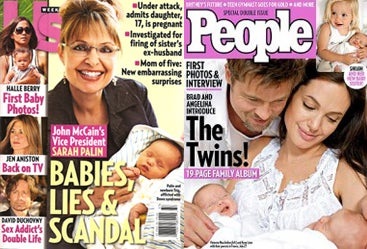 How Tabloid Coverage Exalts Motherhood And By Extension, Sarah Palin
