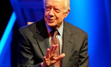 Jimmy Carter Does Not Approve Of Barry And Hillary Together