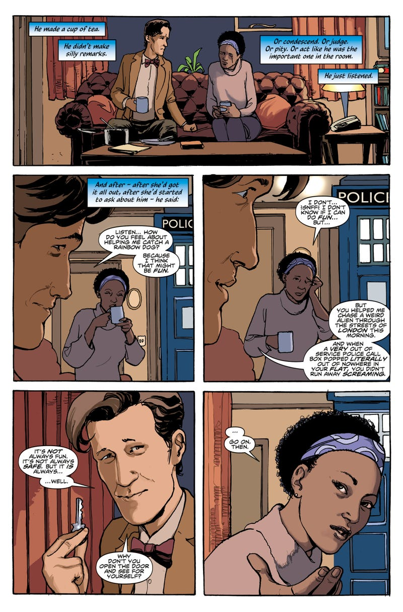 See Doctor Who's Tenth And Eleventh Doctors Meet Their New Companions!