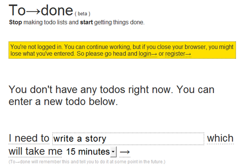To→done Assigns You Tasks Based on Your Available Time