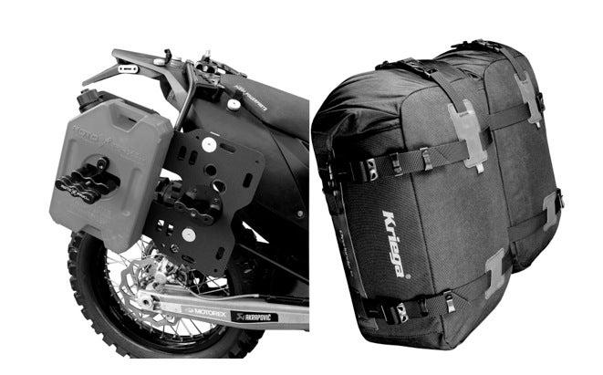 Testing Kriega Motorcycle Dry Bags On the Long, Wet Road