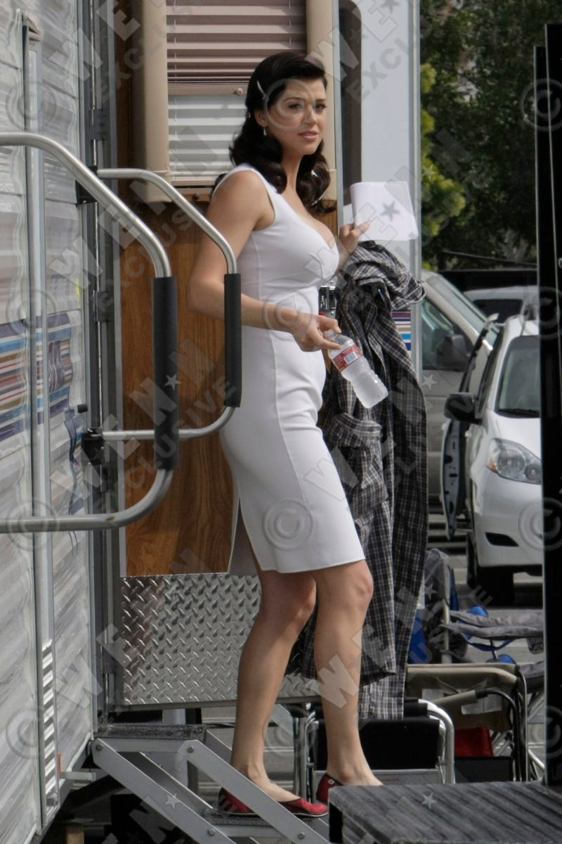 Adrianne Palicki on the Wonder Woman set, via Wenn.com