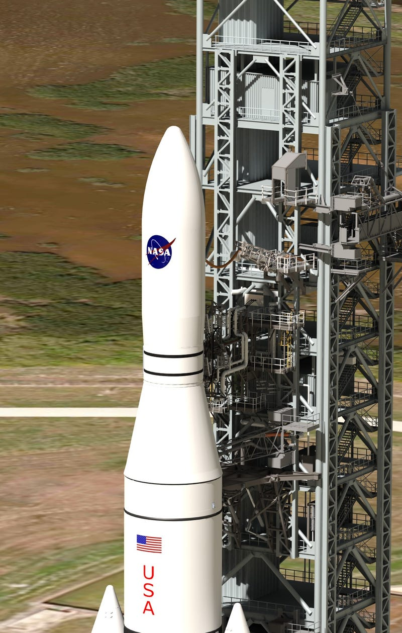 New images of NASA's deep-space rocket reveal an absolute behemoth