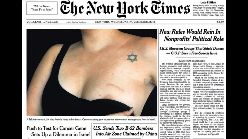 The Anonymous Woman Whose Breast Was on the New York Times Speaks