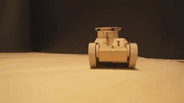 Amazon Boxes Reborn as a Remote Controlled Tank