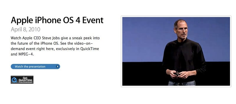 Watch the Entire iPhone 4.0 Keynote