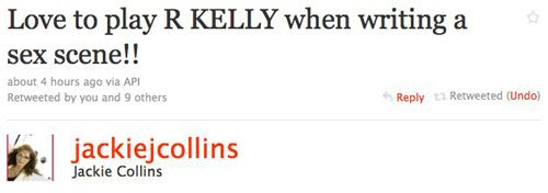 Jackie Collins Listens To R. Kelly