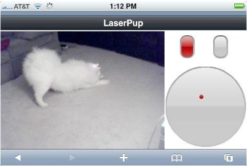 LaserPup: Use the iPhone To Shoot Lasers at Your Dog