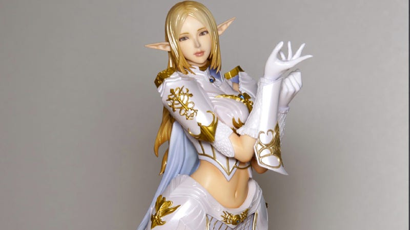 This Lineage II Elf Statue Is Neat and Tidy