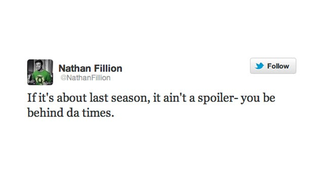 Nathan Fillion Sets an Expiration Date On Spoiler Alerts