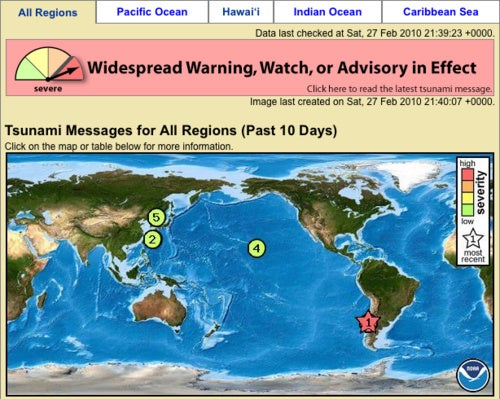 Keep Up with the Latest Tsunami Warnings Online