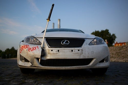 Lexus IS 250 with Samurai Sword