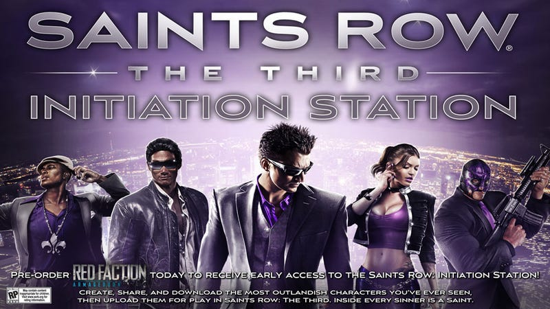 The Saints Row Initiation Station Will Let Players Create Ninja Sex-Slaves Early
