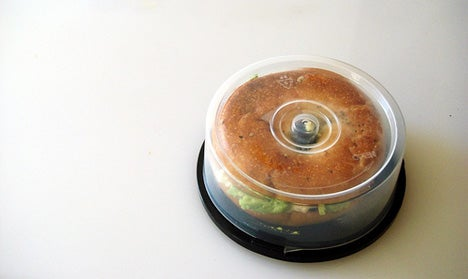 CD Spindle = Bagel Holder