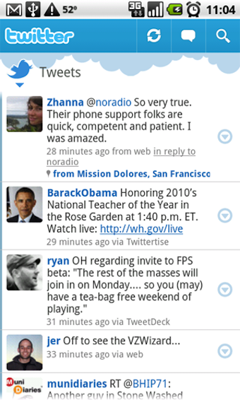 Official Twitter for Android App Now Available