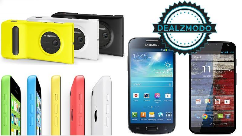 Deals: iPhone 5C, Moto X, Lumia 1020, S4 Mini, Galaxy S4, Note 3