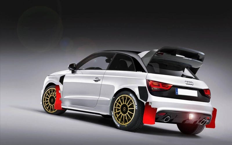 Someone photoshopped a concept of a WRC-prepped Audi S1