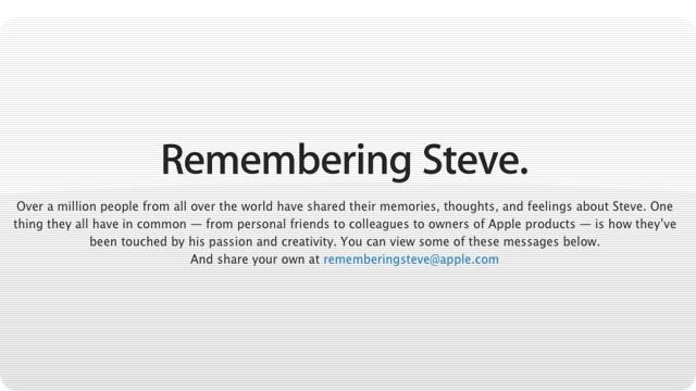 This Is Apple's Steve Jobs Tribute