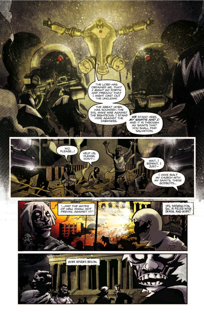 Check out a 7-page preview of the latest issue of Zombies Vs. Robots: Undercity