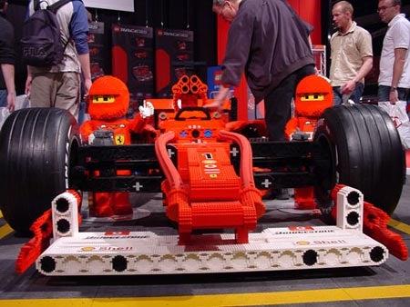 80,000-Brick Lego Ferrari F1 Needs Giant Schumacher Minifig
