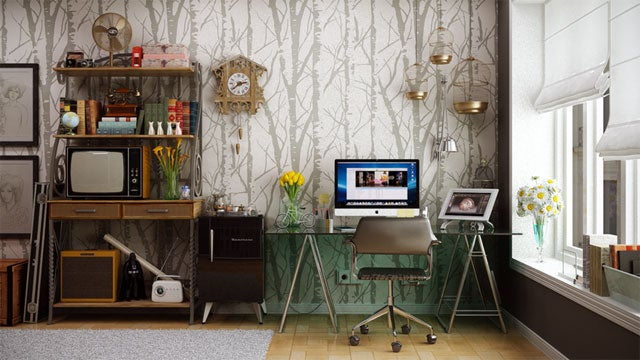 The Contemporary-Retro Workspace