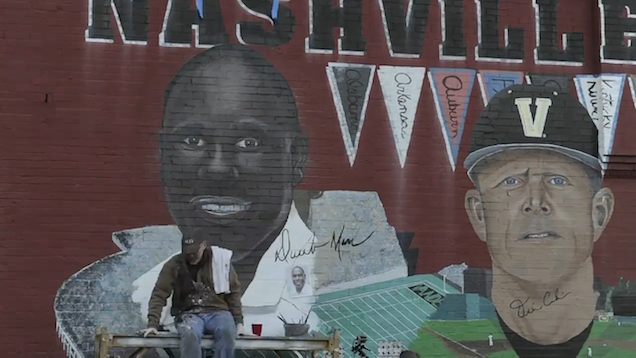 Mural Of Vanderbilt Coach Is Being Repainted For Obvious Reasons
