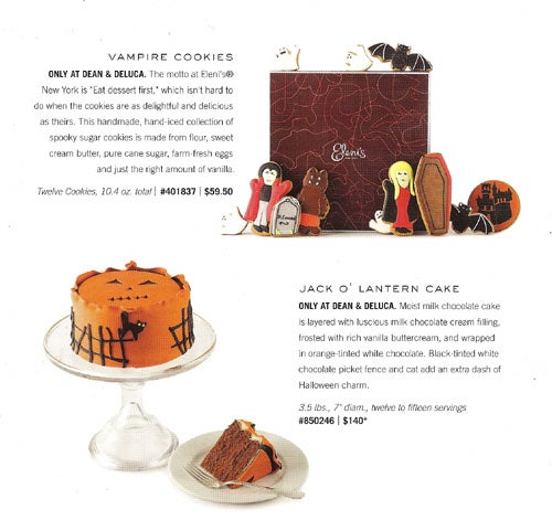 Halloween At Dean & Deluca: The Trick Is Being Able To Afford The Treats