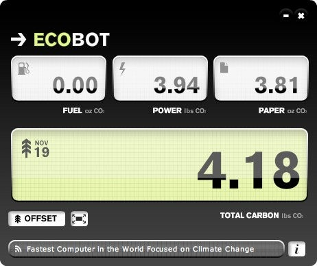 ECOBOT Tracks Your Carbon Footprint